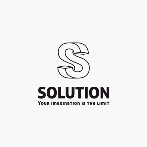 Verdrehter 3D Buchstabe S Logo cooles Logo kaufen