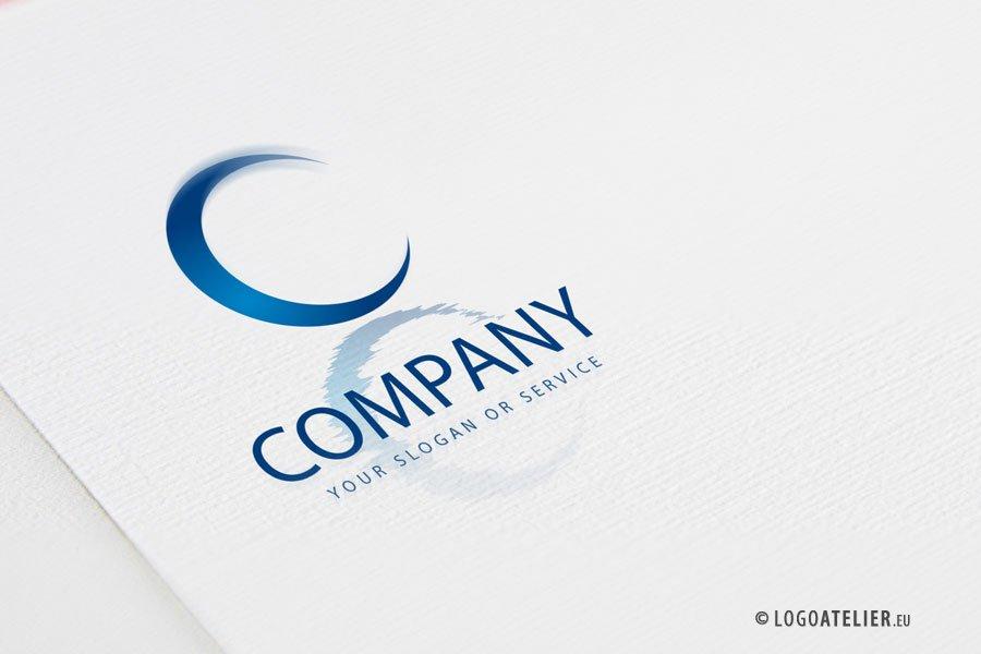exklusives logo buchstabe c spiegelung ��