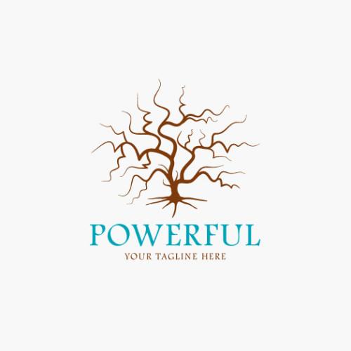 Logo Kraftvoller Alter Baum