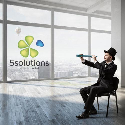 Logo Abstrakte Form Solutions