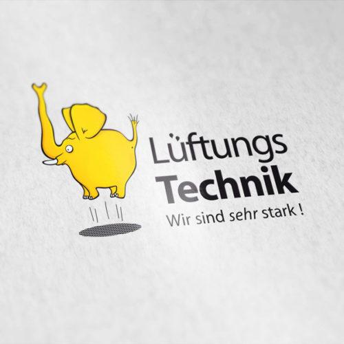 Logo Fliegender Elefant Stark Luft Logo kaufen