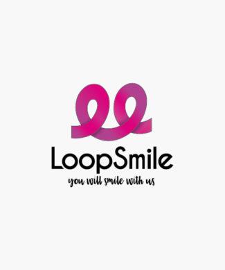 Logo Looping Freude Kurven Freudiges Logo kaufen