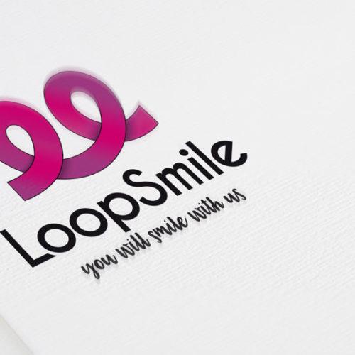 Logo Looping Freude Kurven Freudiges Logo kaufenLogo Looping Freude Kurven Freudiges Logo kaufen
