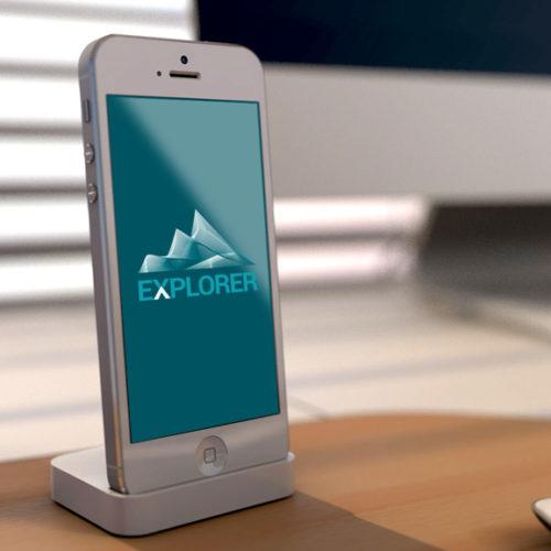 Logo Berge Klettern Entdecken   EXKLUSIVES Logo kaufen   LogoAtelier
