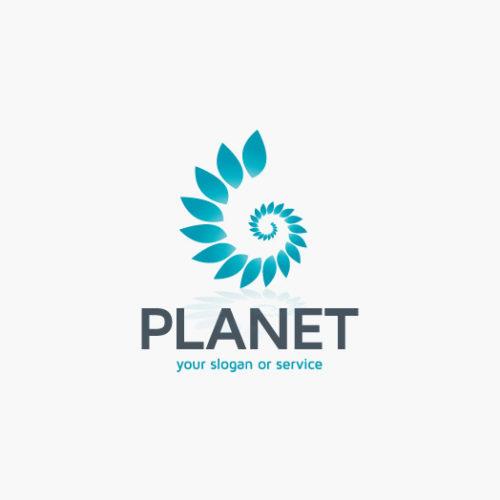 Logo Umweltschutz Pflanzen Spirale   Exklusives Logo kaufen   LogoAtelier