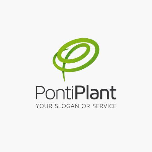 Buchstabe P Logo | Doppel P Logo | Pflanzen Schwungvoll Modern | Cooles Logo kaufen | LogoShop | LogoAtelier.eu