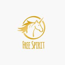 Logo Einhorn Pferd