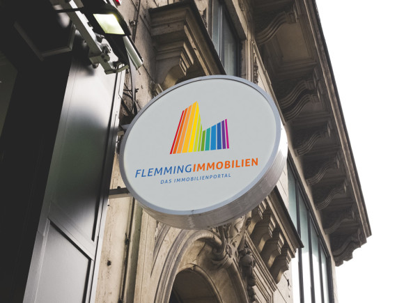 Logo Immobilien Portal bunt