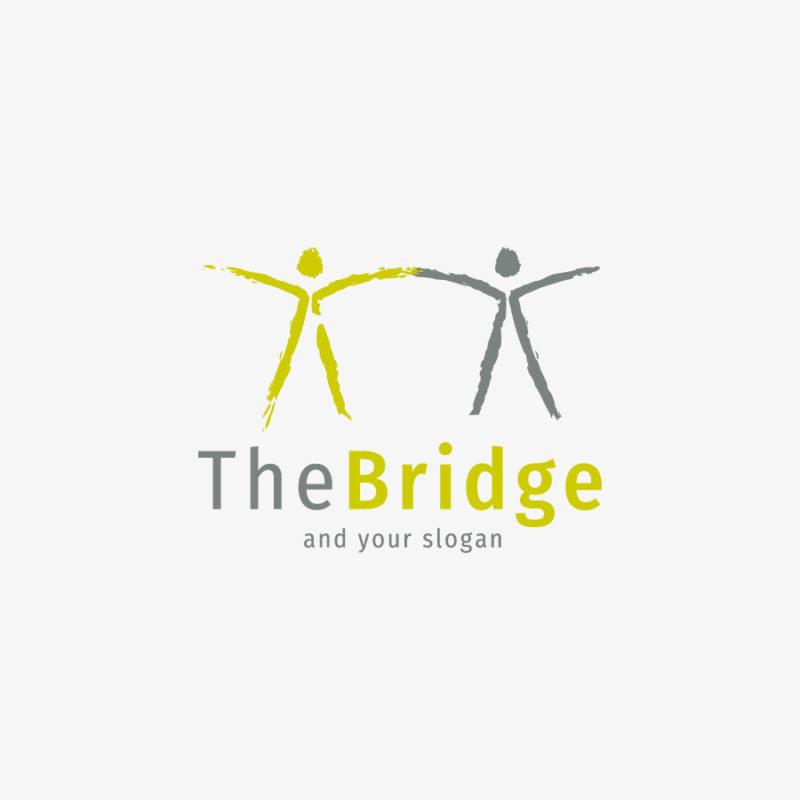 Logo Menschen Brücke Gemeinsam Fertiges Logo kaufen LogoShop LogoAtelier