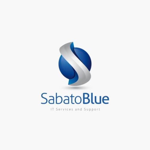 Logo 3D Buchstabe S Blau