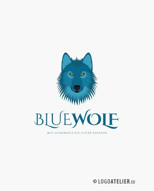 Logo Blauer Wolf