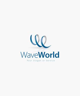 Logo Buchstabe W Welle