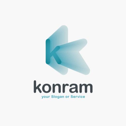 Buchstabe K Logo