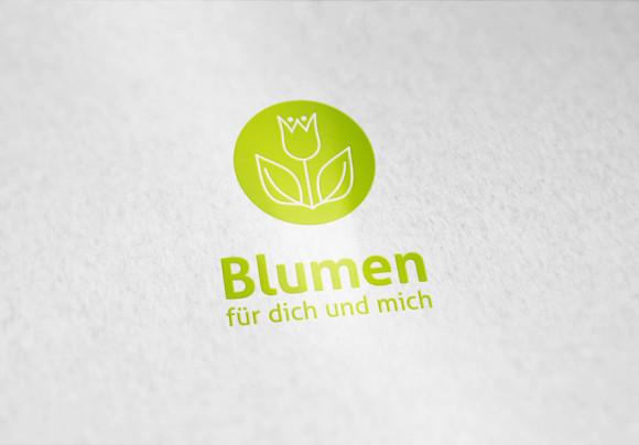 Logo Blumen Geschaeft