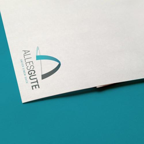Logo Buchstabe A Bogen
