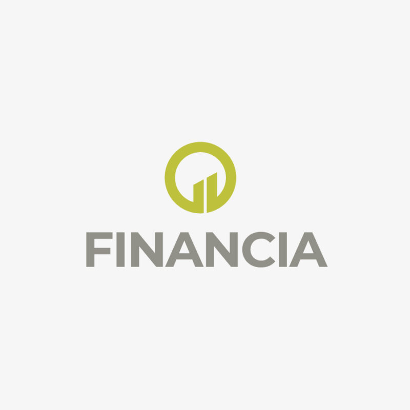 Logo Finanzwesen Geld Aufsteigend Kreis Geometrisches Logo kaufen LogoShop LogoAtelier.eu