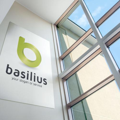 Logo 3D Buchstabe b