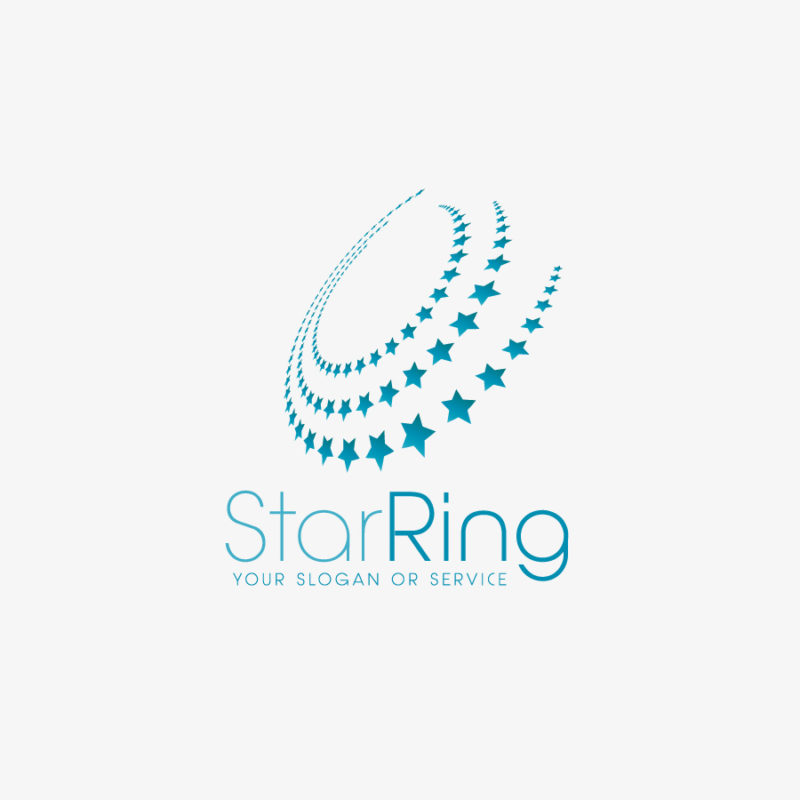 Logo Abstrakte Sterne Leicht Fertiges Logo kaufen LogoShop LogoAtelier 01