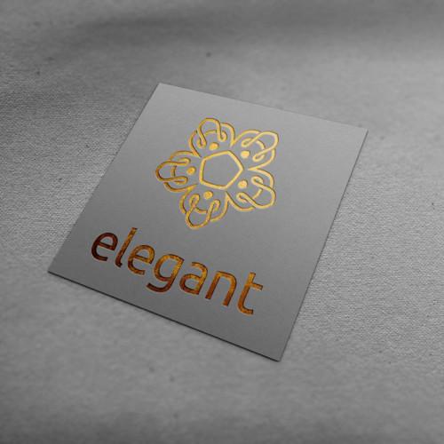 Logo Gold Elegant