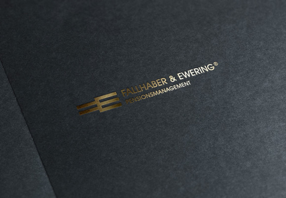 Buchstabe F und E Logo