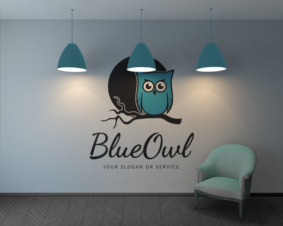 Logo Blaue Eule