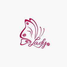Logo Buchstabe L Schmetterling