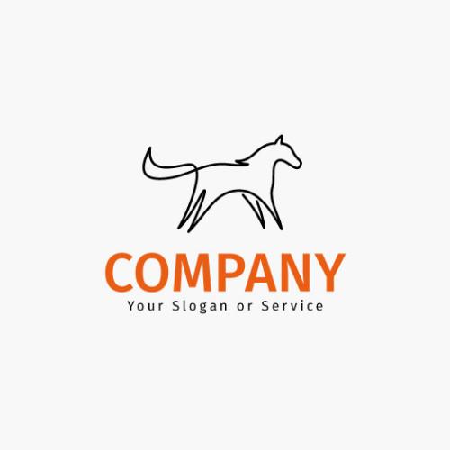 Logo Gezeichnet Pferd