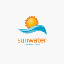 Logo Sonne Wasser Urlaub