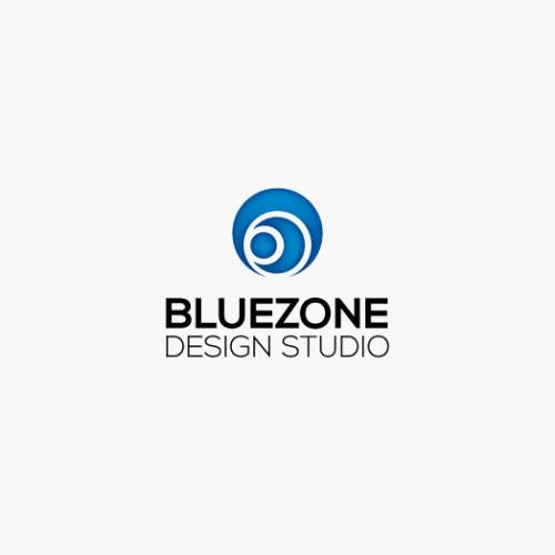 3D Logo Kreise Blau