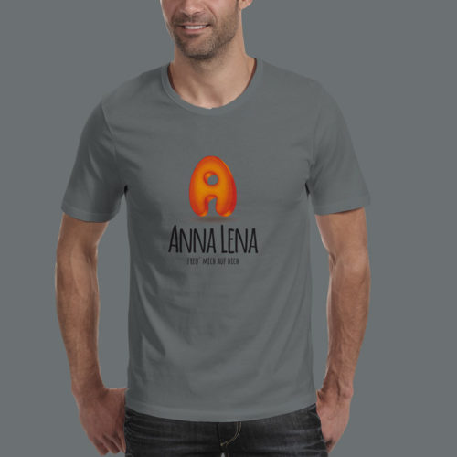 3D Logo Buchstabe A Orange Blau