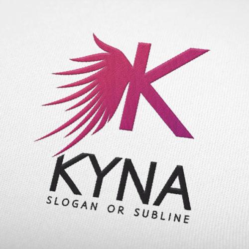 Logo Buchstabe K Fluegel Engel