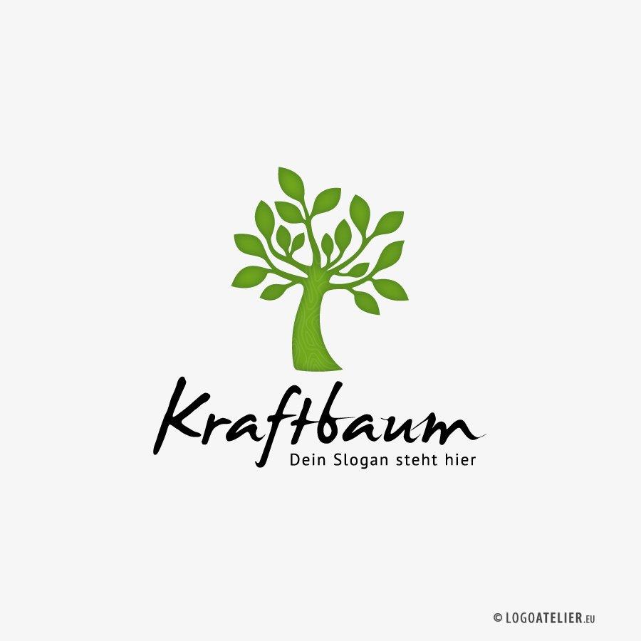 Logo Kraft Baum Natur Wachstum Esoterik Fertiges Logo kaufen LogoShop LogoAtelier.eu