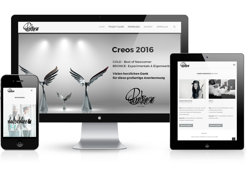 LogoAtelier Freunde PixelPoesie frische Designagentur fertiges Logo kaufen