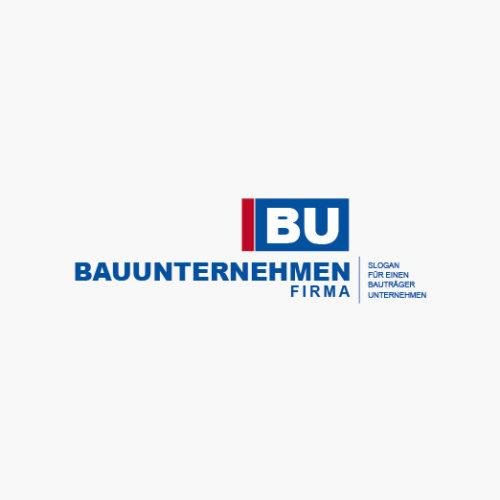 Logo Baufirma Rechtecke Fertiges Logo kaufen
