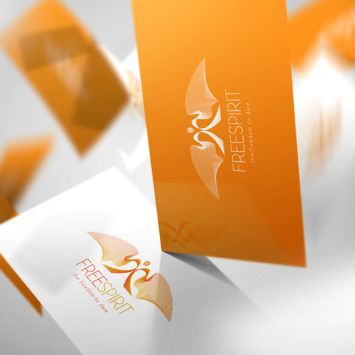 Logo Free Spirit Mensch Kraftvoll fertiges Logo kaufen