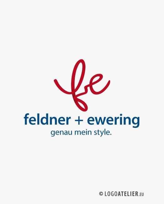 Logo Buchstabe F und E Kreatives Logo kaufen Logo Shop