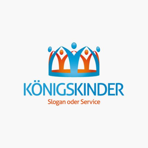 Logo Krone Menschen Kinder Fertiges Logo kaufen EXKLUSIV