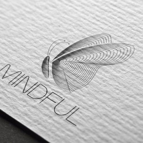 Logo Achtsam Schmetterling Leicht | EXKLUSIVES Logo kaufen | LogoAtelier.eu