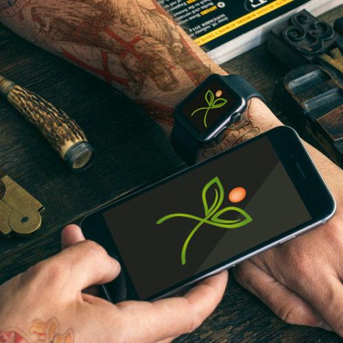 Logo Blumen Pflanzen | Buchstabe X | Natürliches Logo kaufen | LogoAtelier.eu