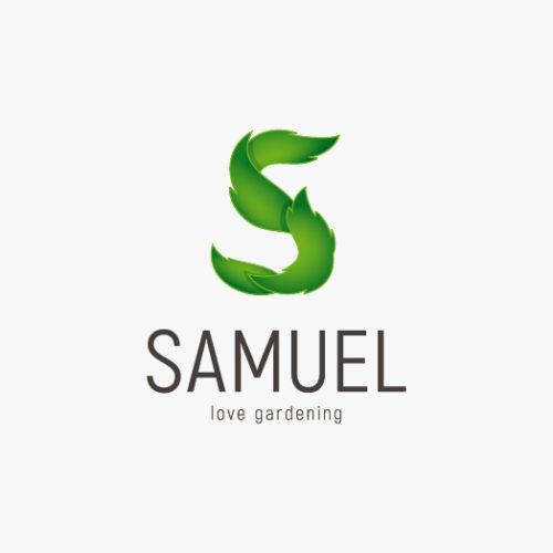 Logo Buchstabe S Pflanzen | Garten Logo kaufen | LogoAtelier.eu