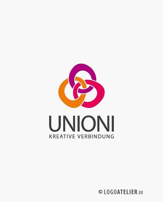 Logo Kreative Verbindungen | Kreatives Logo kaufen | LogoAtelier.eu