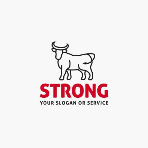 Logo Stier Stark Erhaben fertiges Logo kaufen LogoAtelier