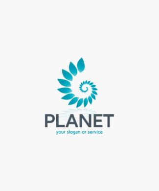 Logo Umweltschutz Pflanzen Spirale | Exklusives Logo kaufen | LogoAtelier