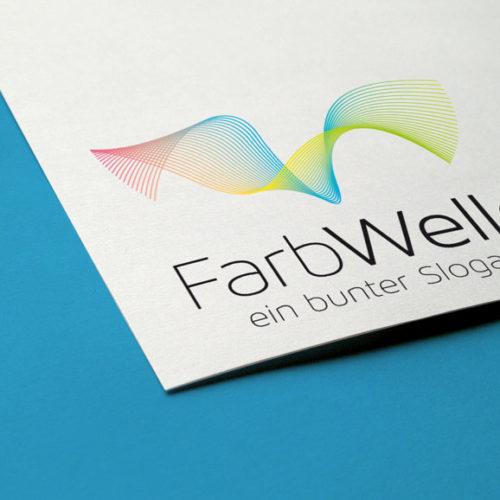 Logo Welle Farben | Buntes Logo kaufen | LogoShop | LogoAtelier.eu