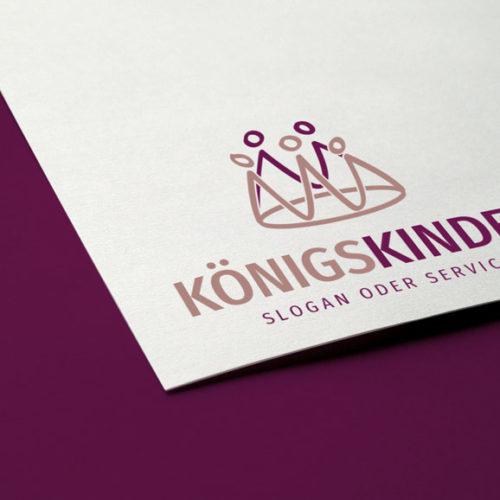 Logo Krone Kinder Menschen | Fertiges Logo kaufen | LogoShop LogoAtelier.eu