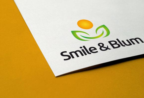 Logo Smile Blume Pflanzen Logo kaufen | Logoshop | LogoAtelier.eu