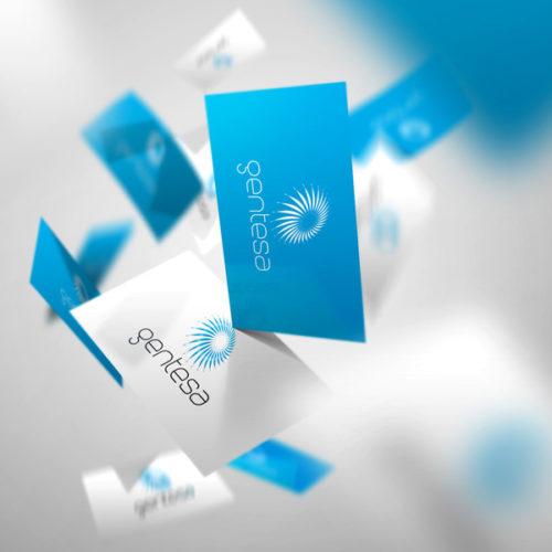 Logo Stern Kreis Blume Bewegung | Zartes Logo kaufen | LogoShop LogoAtelier