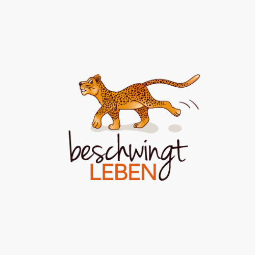 Logo Katze Gepard Leopard Tier Beschwingt Lustiges Logo kaufen LogoAtelier