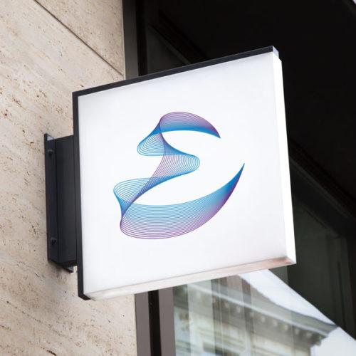Logo Buchstabe E Linien Modernes Logo kaufen LogoAtelier Logoshop