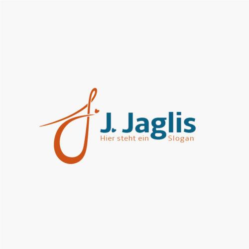 Logo Buchstabe J Herzen Gezeichnet Schwungvoll Dynamisch fertiges Logo kaufen LogoAtelier